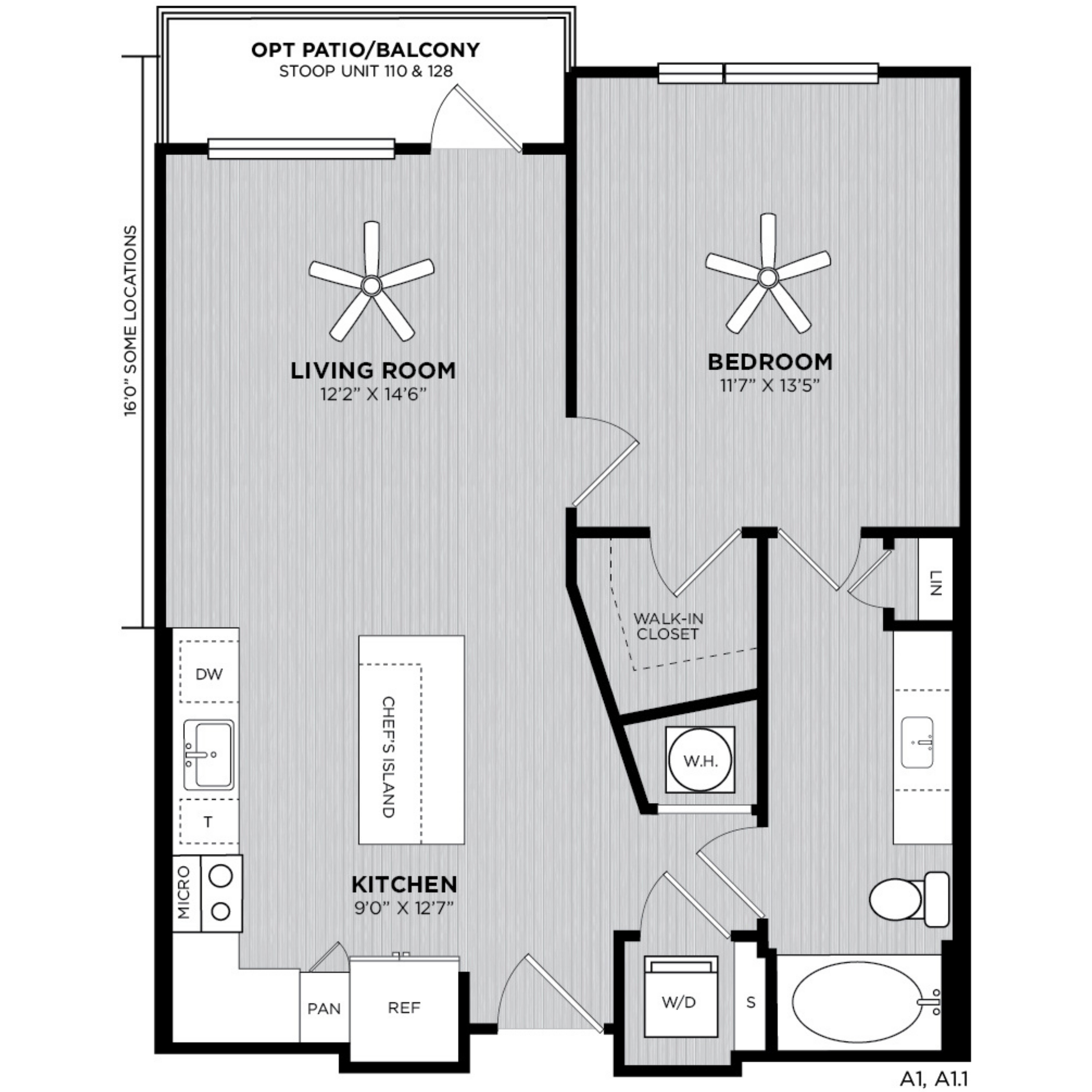 Alexan WP2 One Bedroom Floorplan A1
