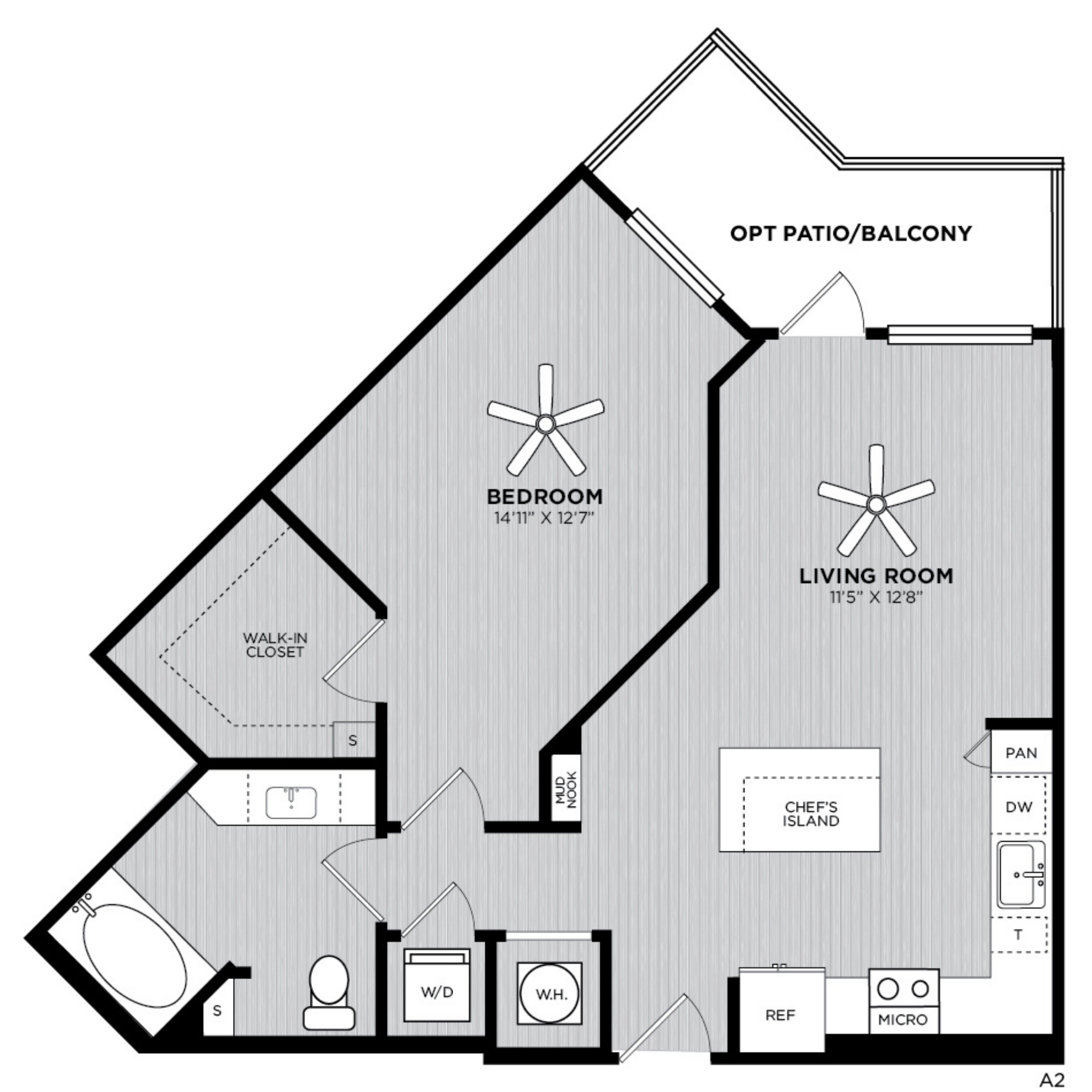 Alexan WP2 One Bedroom Floorplan A2