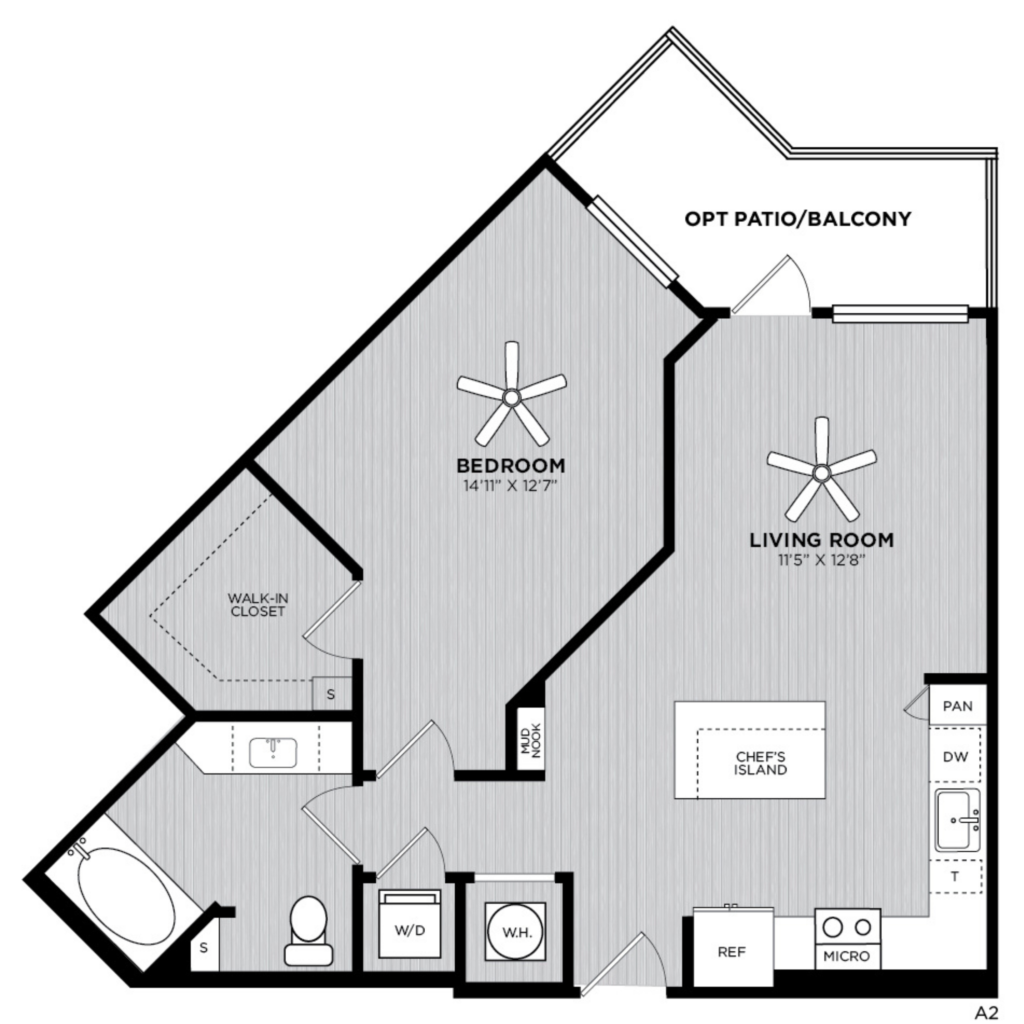 A2 one bed/one bath luxury apartment home - Winter Park Luxury Apartments