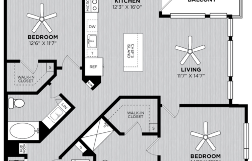 B3 two-bedroom at Alexan WP2 - Come Home to Spacious Comfort